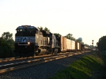 NS 2650 & CSX 7490 rattling across the diamond with 10M
