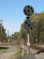The old PRR signals still stand guard on the Marion Branch