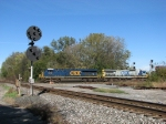 As Q157 screams by on the B&O, the position light signals stand guard on the Marion Branch