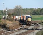 Q135 rolling west near milepost 148