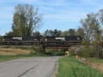 NS 8382 & 8704 crossing over CR200W