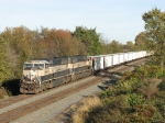 Matched BNSF 9530 & 9543 heading west with 417 and crisp clean coal hoppers