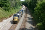 CSX 8623 drifts downgrade