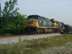 CSX 258 rolls southbound through Heidrick. This is where the C&M branch to Manchester, KY connects with the CV sub