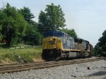 CSX 465 and a sister unit head south with loads for the TVA Bull Run steam plant outside of Knoxville,