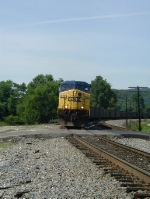 CSX 238 heads north with empties