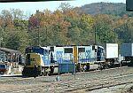 CSX Train Q124 changing crews