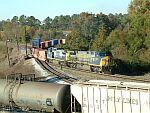 CSX Detour Train 198 arrives