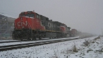 CN intermodal creeps NB waiting for a signal