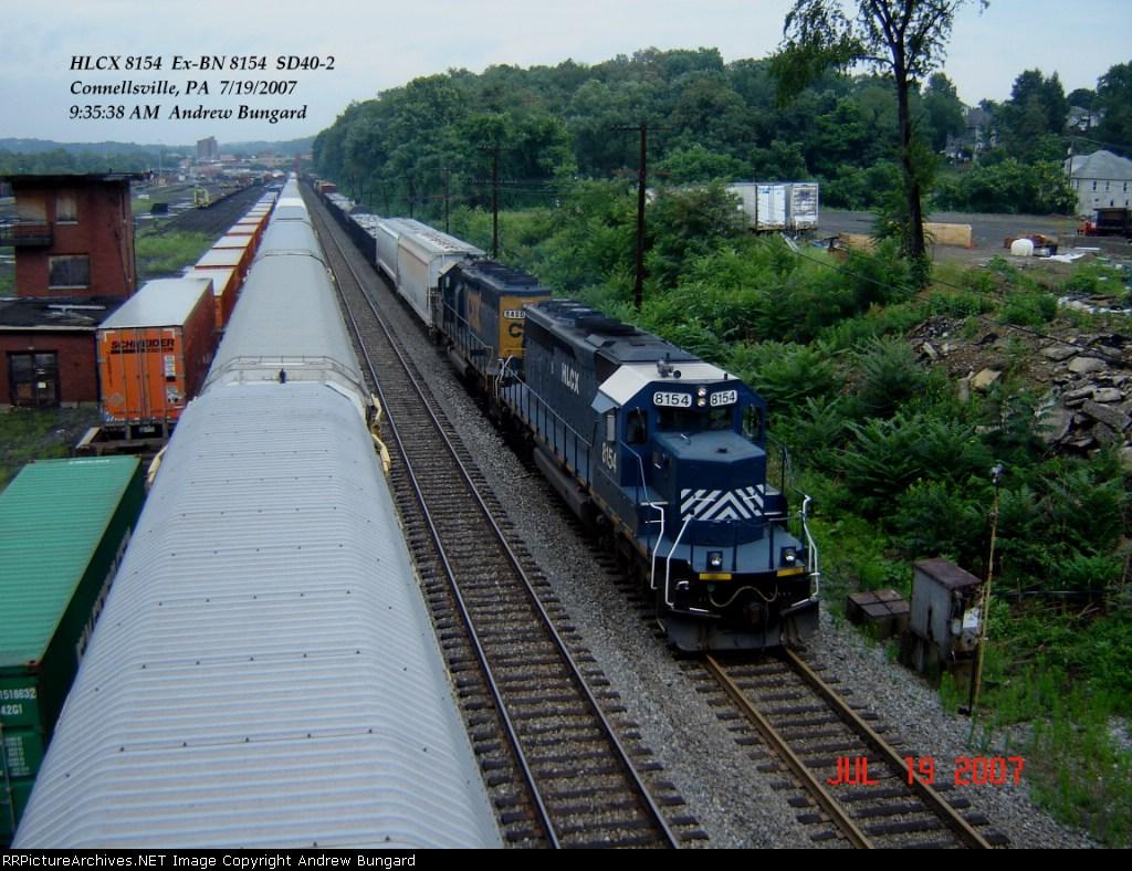 HLCX 8154  Ex-BN 8154  SD40-2   July 19, 2007