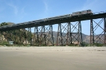 AMTK 799 crossing Gaviota Trestle