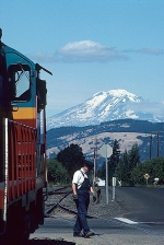 Mt. Adams Across the Columbia River in Washington and Mt. Hood RR #88
