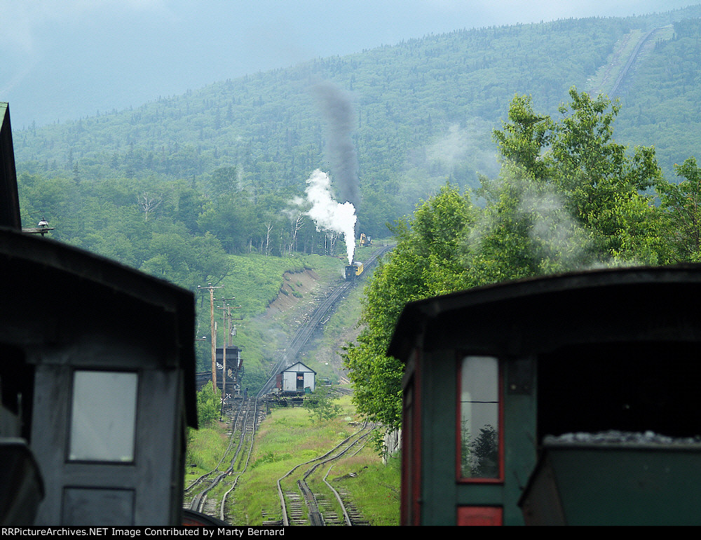 Shot from the Base Station of the Mt. Washington Cog Railroad
