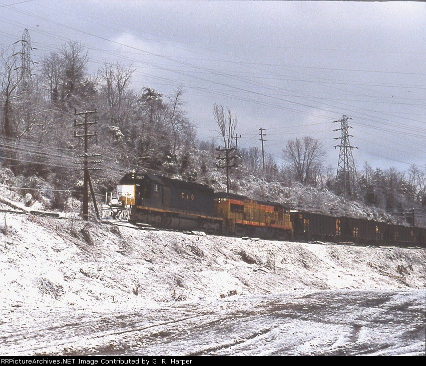 C&O and Chessie System in the snow