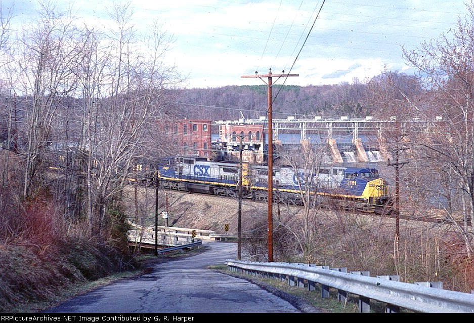 Eastbound and the hydro plant