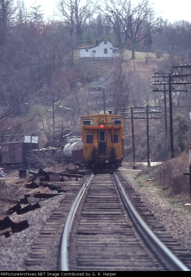 Caboose telephoto at the dam