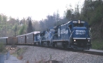 NS detour action with solid CR consist