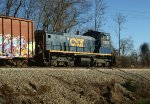 CSXT 1103 eastbound on its way back to Sandy Hook Yard in Lynchburg
