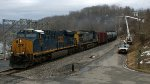 CSX 3012 leads the FOURTH oil train seen today.  Empties.  K08903.  westbound