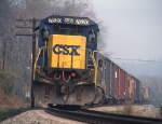 CSXT 7620 and smoky skies at the dam