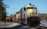 CSX 8146 leads a ballast train