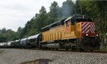 473 - Here's a treat!  CITX 2784 has been in the Lynchburg area working on the yard job and the locals for the past week.  Seen here on the H74403 local en route to Balcony Falls, VA