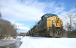 231- EB grain train passes MP 151 after the Big Dec. 18-19, 2009, snowstorm