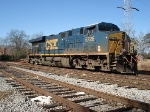 CSX 5226 waits inold AWP transfer yard at LaGrange over Christmas.  The unit was being used to test new CTC operation around LaGrange and to haul ballast into the Kia Assembly plant as the leads were being built