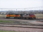 A Pair of Dash-9W's Head East Onto the Creston Sub to Get a Grain Train