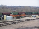 Three Locomotives Sit Awaiting Assignment at the Carling Yard