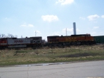 BNSF 4083 Leads a Hot Shot Autorack Train West