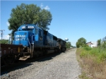 Ex-CR SD50 trails on westbound NS manifest