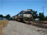 Eastbound NS manifest exits Porter branch and joins NS mainline