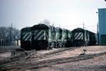 1329-10 BN stored GE units at Mpls Junction engine shop
