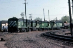 1331-19 BN GE units stored at Ex-GN Mpls Junction engine shop