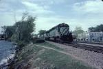 1336-20 Eastbound BN freight passes Wayzata Bay on Lake Minnetonka