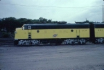 1344-23 C&NW #401/402 business F-units parked at Western Avenue Yard