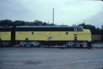 1344-24 C&NW #401/402 business F-units parked at Western Avenue Yard