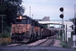 "1348-12 Westbound MILW freight in ""Lake Street Depression"" at Humboldt Ave So"