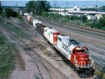 1377-22 Eastbound SOO freight at MN Transfer Raymond Ave yard