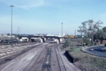 1380-17 BN Northtown Yard with SOO bridge overhead viewed from St. Anthony Pkwy