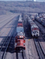 1385-15 Westbound SOO/MILW freight passes Pigs Eye Yard on Main 2