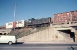 1386-01 Minnesota Transfer 306 moving dead in BN freight on BN (ex-NP) St. Paul Sub.
