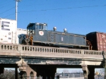 1386-02 Minnesota Transfer 306 moving dead in BN freight on BN (ex-NP) St. Paul Sub.