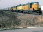 1386-20a Eastbound C&NW freight