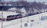 1387-02 Southbound MILW I&M train departs CNW Western Avenue Yard