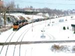1387-03 Southbound MILW I&M train departs C&NW Western Avenue Yard