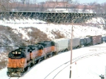 1387-03a Southbound MILW I&M train departs C&NW Western Avenue Yard