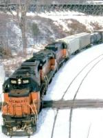 1387-04 Southbound MILW I&M train departs C&NW Western Avenue Yard