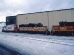 1387-26 SOO/MILW locos at Pigs Eye Shop